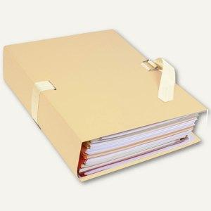 Exacompta Dokumentenmappe, DIN A4, bis 13 cm dehnbar, perlweiß, 370E