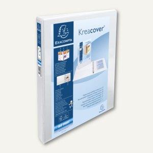 Exacompta Präsentationsringbuch KreaCover - A4+, 2-Ringe Ø 20mm, weiß, 51821E