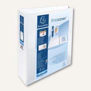 Exacompta Präsentationsringbuch KreaCover - A4+, 2-Ringe Ø 60mm, weiß, 51825E