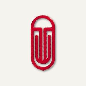 Laurel Kunststoff-Büroklammern Bogen King Klips, 75/10mm, rot, 100St., 1320-20