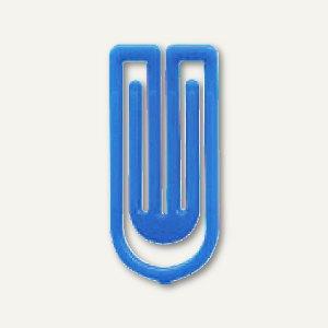 Laurel Kunststoff-Büroklammern King Klips, 27 mm, blau, 375 Stück, 1386-30