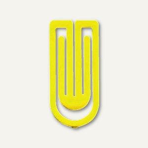 Laurel Kunststoff-Büroklammern King Klips, 27 mm, gelb, 375 Stück, 1386-70