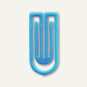 Laurel Kunststoff-Büroklammern King Klips, 27 mm, hellblau, 375 Stück, 1386-80