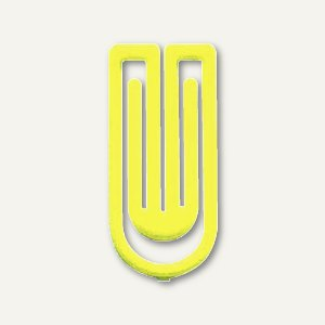 Laurel Kunststoff-Büroklammern King Klips, 27 mm, hellgelb, 375 Stück, 1386-19
