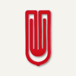 Laurel Kunststoff-Büroklammern King Klips, 27 mm, rot, 375 Stück, 1386-20