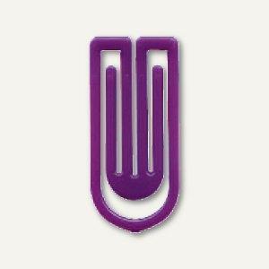 Laurel Kunststoff-Büroklammern King Klips, 27 mm, violett, 375 Stück, 1386-18