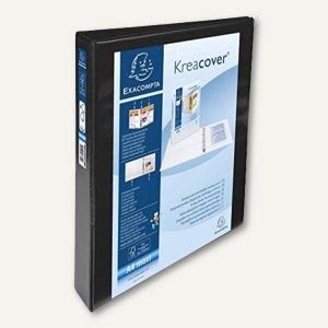 Präsentationsringbuch KreaCover - A4+, 4-Ringe Ø 25 mm, schwarz, 51846NE
