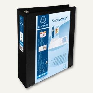 Präsentationsringbuch KreaCover - A4+, 4-Ringe Ø 60 mm, schwarz, 51845NE