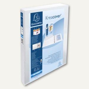 Exacompta Präsentationsringbuch KreaCover - A4+, 2-Ringe Ø 15 mm, weiß, 51820E