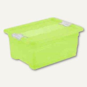 "Aufbewahrungsbox ""Kristall-Box"" 12 Liter, 395 x 295 x 175 mm, PP, Deckel, grün,"