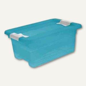 "Aufbewahrungsbox ""Kristall-Box"" 4 Liter, 295 x 195 x 125 mm, PP, Deckel, blau, 1"