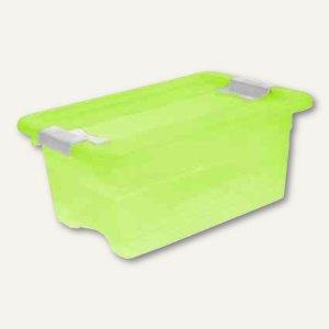 "Aufbewahrungsbox ""Kristall-Box"" 4 Liter, 295 x 195 x 125 mm, PP, Deckel, grün, 1"