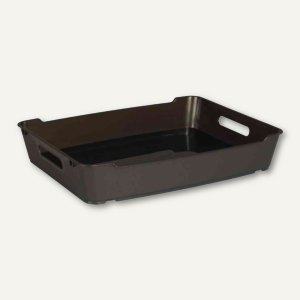 "Aufbewahrungsbox ""LOFT"" - DIN A4, 370 x 285 x 65 mm, PP, graphite, 1090882600000"