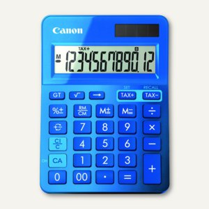 Tischrechner LS-123K, 12-stellig, Solar + Batterie, metallicblau, 9490B001AA