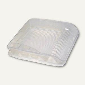 Geschirrablaufkorb - klein, mit Tablett, 395 x 295 x 80 mm, transparent, 1058500