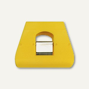 Briefklemmer SIGNAL 3, 90 x 70 mm, 23 mm Klemmweite, gelb, 5 Stück, 1136-70