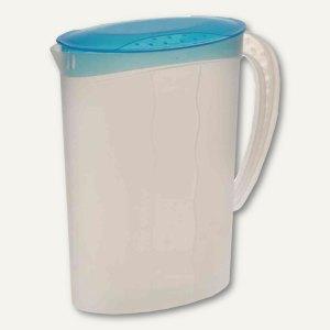 OKT Saftkanne - 2 Liter, PP, Deckel, 95x185x245 mm, blau/transparent