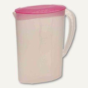 Saftkanne - 2 Liter, PP, Deckel, 95x185x245 mm, pink/transparent, 106605500000