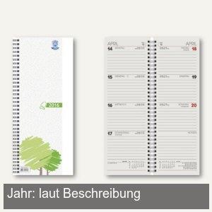 Glocken Vormerkkalender - 10x29 cm, 1 Woche / 2 Seiten, beige, 5015541