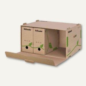 Archiv-Container ECO für Schachteln - 340x439x259 mm, braun, 10St., 623919
