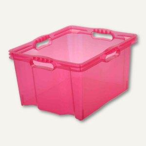 OKT Aufbewahrungsbox Multi-Box XL, 24 l, 430 x 350 x 230 mm, pink, 10274550000