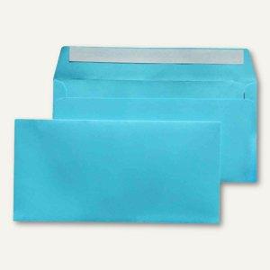 Briefumschlag C6/5, 114x229 mm, ohne Fenster, hellblau, 25 Stück, 227663