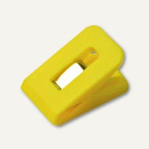 Laurel Briefklemme SIGNAL 1, 25 x 43 mm, 19 mm Klemmweite, gelb, 100 St.,1110-70