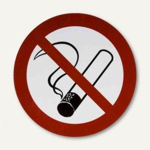 Verbotsschildfolie Rauchen verboten - (Ø)200 mm