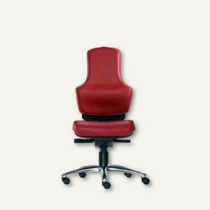 "Bürodrehstuhl ""Ortholetic Balance"" ohne Kopfstütze, Leder, rot, O1500B-507"