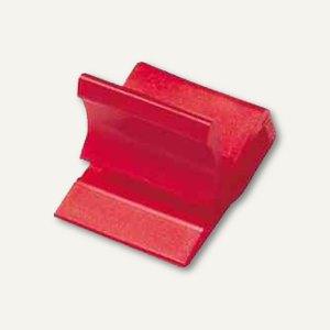 Laurel Kunststoff-Briefklemmer Zacko 1, 11 x 14 mm, rot, 120 Stück, 2845-20