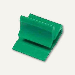 Laurel Kunststoff-Briefklemmer Zacko 3, 15 x 22 mm, grün, 100 Stück, 2872-60