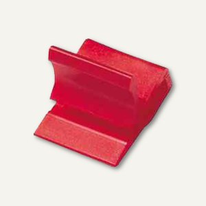 Laurel Kunststoff-Briefklemmer Zacko 3, 15 x 22 mm, rot, 100 Stück, 2872-20