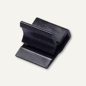 Laurel Kunststoff-Briefklemmer Zacko 3, 15 x 22 mm, schwarz, 1000 Stück, 2871-11
