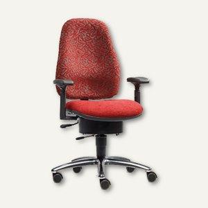 Drehstuhl BODYGUARD PROTECT - Sitzhöhe: 45-54 cm, Stoff, rot, L6735M-410-400
