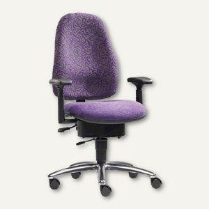 Drehstuhl BODYGUARD PROTECT - Sitzhöhe: 45-54 cm, Stoff, violett, L6735M-411-401