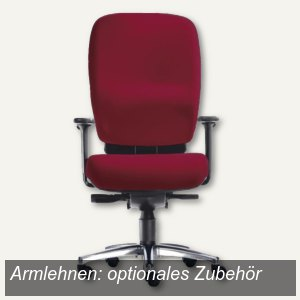 Drehstuhl Business Office - Sitzhöhe: 46-56 cm, Stoff, bordeaux, 1500B-104