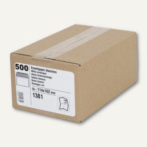 GPV Briefumschläge ECO - C5, Fenster, 80 g/qm, 162 x 229 mm, weiß, 500St., 1387