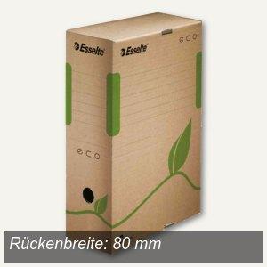 Esselte Archiv-Schachtel ECO - DIN A4, (B)80 mm, braun, 25St., 623916