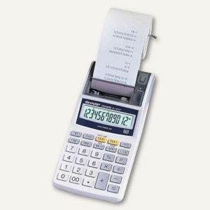 Sharp Tischrechner EL-1611 P, druckend, 12-stellig, 96x191x40 mm, grau,EL-1611 P