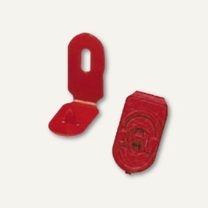 Laurel Kunststoff-Heftknöpfe TACKI, 33 mm, rot, 300 Stück, 0545-20