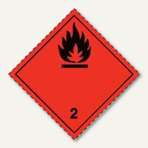 smartboxpro Gefahrgutaufkleberfolie - Gas, Motiv, 100x100 mm, 1.000St.,255193010