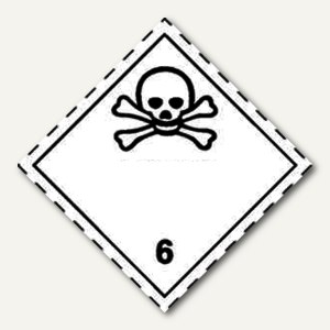 Artikelbild: Gefahrgutaufkleberfolie - giftige Stoffe