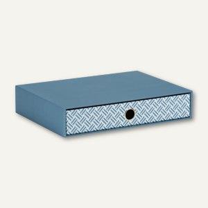 Rössler Twist - Smoky Blue Schubladenbox für DIN A4, 3er Pack, 15241172000