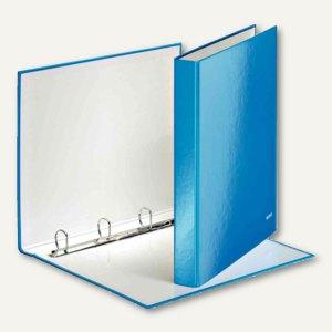 LEITZ Ringbuch WOW - DIN A4, Hartpappe, Rücken: 40 mm, Ringe: 4, blau, 42420036