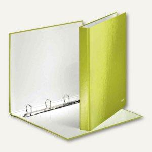 Ringbuch WOW - DIN A4, Hartpappe, Rücken: 40 mm, Ringe: 4, grün-metallic, 424200