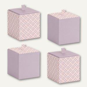 Vorratsbox Mauve - Twist - Apricot, 95 x 95 x 100 mm, 4 Stück, 13421171002
