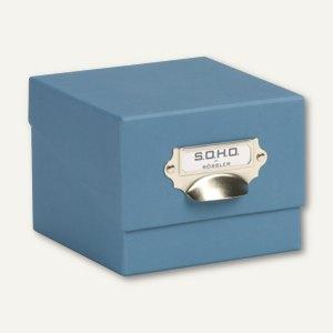 S.O.H.O. Fotokiste - auch für Karteikarten A6, smoky blue, 3er Pack, 13251452740