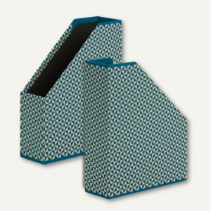 Rössler TRIANGLE Cyan - Stehsammler für DIN A4, 3 Stück, 13181178000