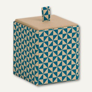 Rössler Vorratsbox TRIANGLE Cyan, 95 x 95 x 100 mm, 4 Stück, 13421178002
