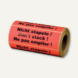 "Hinweis-Etikettenrolle - ""Nicht stapeln"", 148 x 48 mm, 500 St., 255194130"